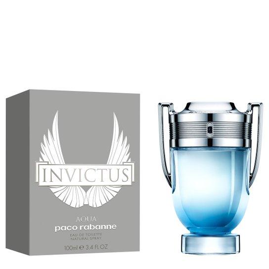 d4af04944c Perfume Invictus Aqua Masculino Paco Rabanne EDT 100ml - Incolor ...