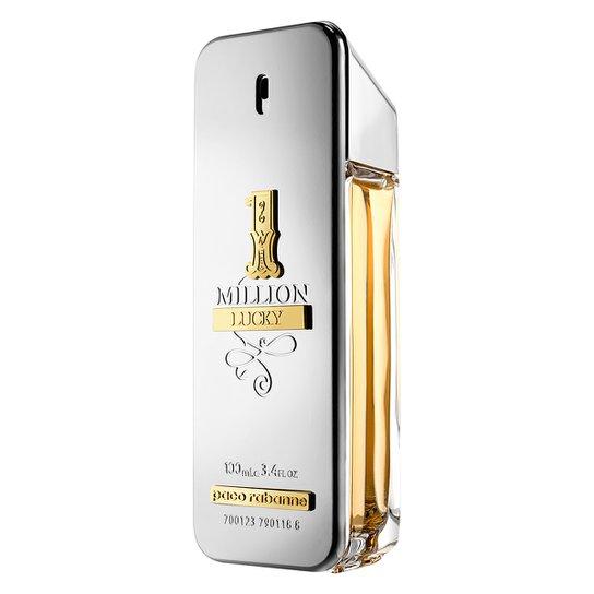 955c60000 Perfume One Million Lucky Masculino Paco Rabanne Eau de Toilette 100ml -  Incolor