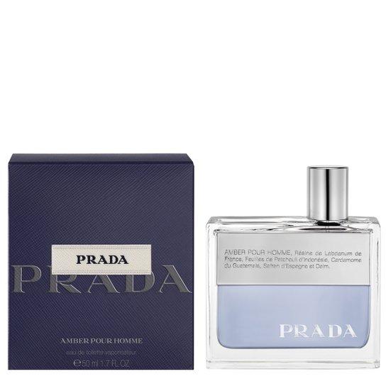 Perfume Amber Pour Homme Masculino Prada EDT 50ml - Incolor - Compre ... 5a95e8b8b8