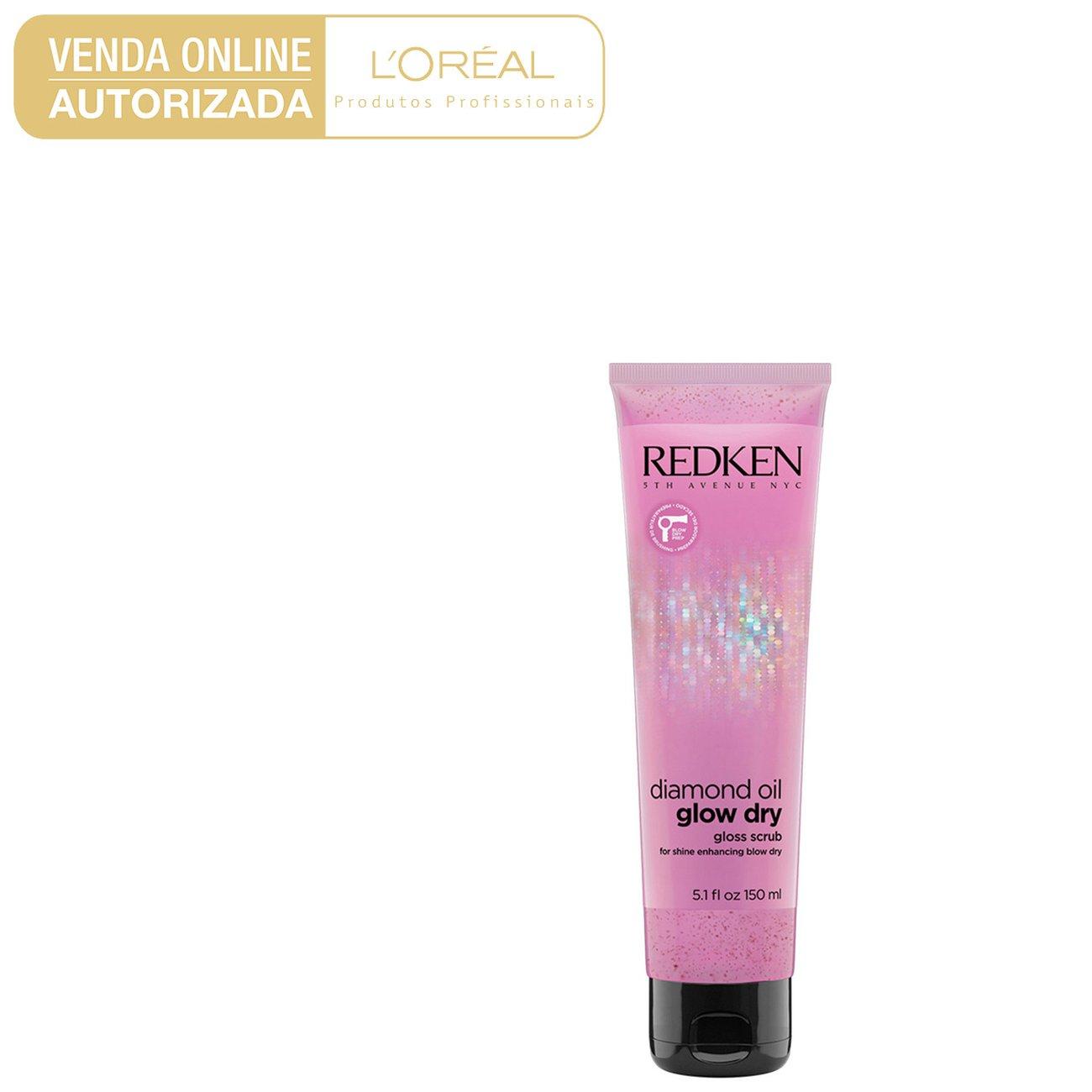 Pré-Shampoo Redken Diamond Oil Glow Dry Gloss Scrub 150ml - Incolor