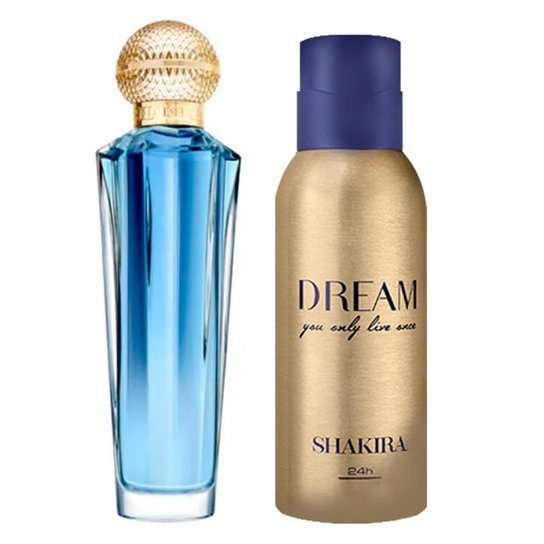 3485c8b9ff Kit 1 Perfume Dream Shakira Eau de Toilette 80ml + 1 Desodorante Dream  150ml - Incolor