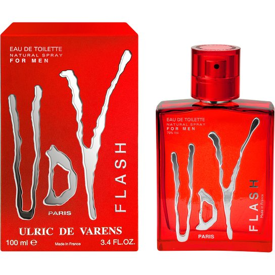 c3fdeead6 Perfume UDV Flash Masculino Ulric de Varens EDT 100ml - Incolor ...