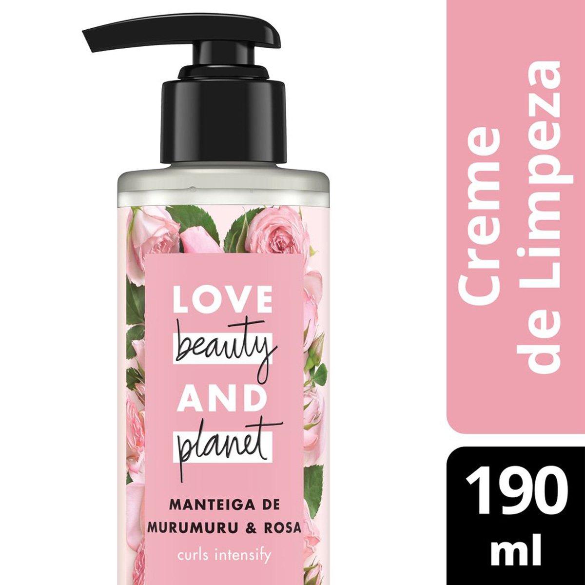 Creme de Limpeza Curls Intensify Manteiga de Murumuru & Rosa Love Beauty and Planet 190ml