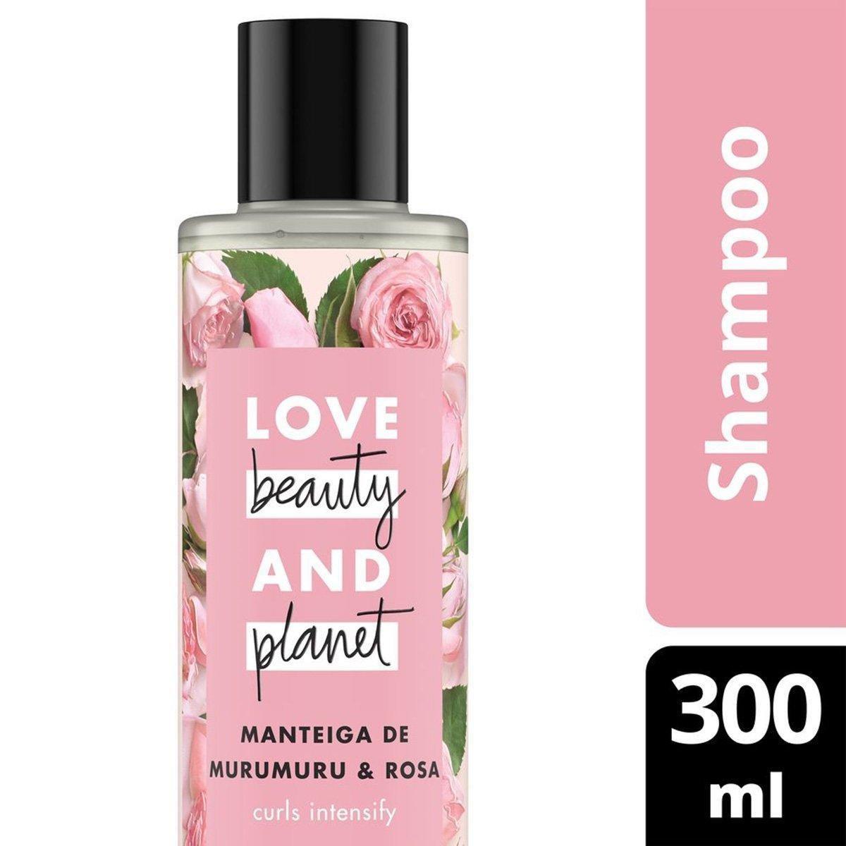Shampoo Curls Intensify Manteiga de Murumuru & Rosa Love Beauty and Planet 300ml