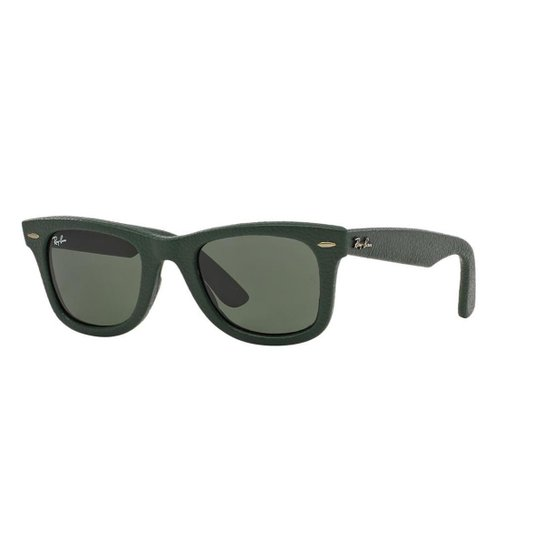 35e46831d8bb7 Óculos de Sol Ray-Ban RB2140QM Wayfarer Couro - Compre Agora   Zattini
