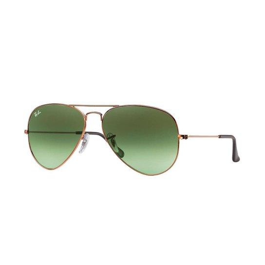 55001b70f Óculos de Sol Ray-Ban Aviator Masculino - Verde | Zattini