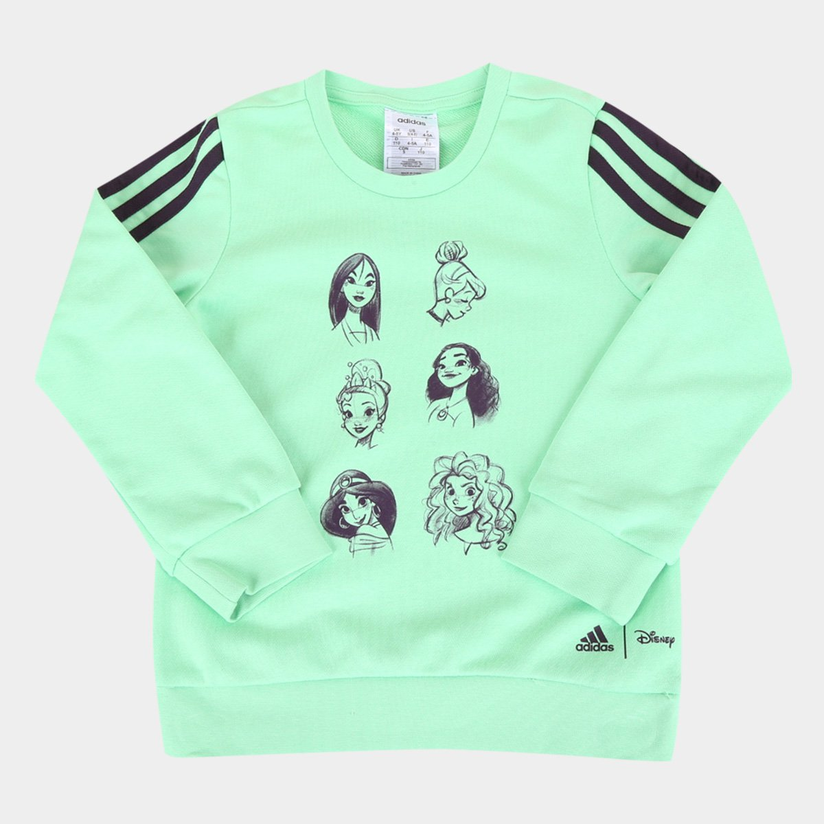 Moletom Infantil Adidas Princesas Disney