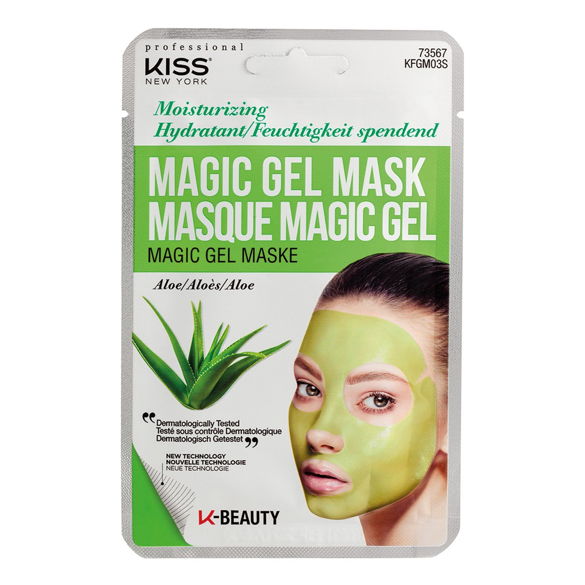 Máscara Facial Kiss New York - Magic Gel Mask Aloe - 1 Unid.