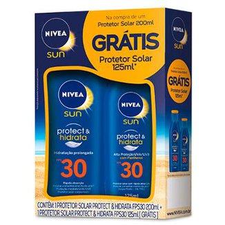 Kit Protetor Solar Nivea Sun Protect   Hidrata FPS 30 200ml + Protetor Solar  125ml a5fe46c6b6926