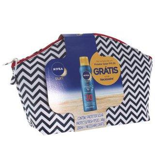 Kit Protetor Solar Spray Nivea Sun Protect   Fresh FPS 30 200ml + Necessaire 287188c958179