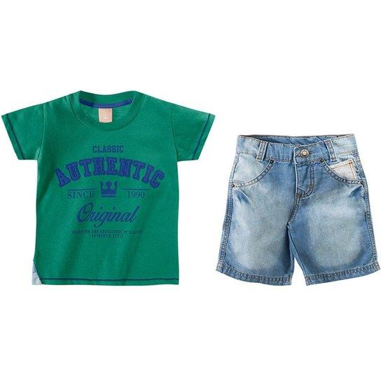 Conjunto Infantil Masculino Colorittá - Verde - Compre Agora  9b5ab79cb1657