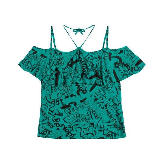 Blusa Infantil Rovitex Feminina - Verde - Compre Agora  1ed4759f7e6