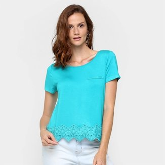 eb2b0b5e32 Camiseta Lunender Renda Barra