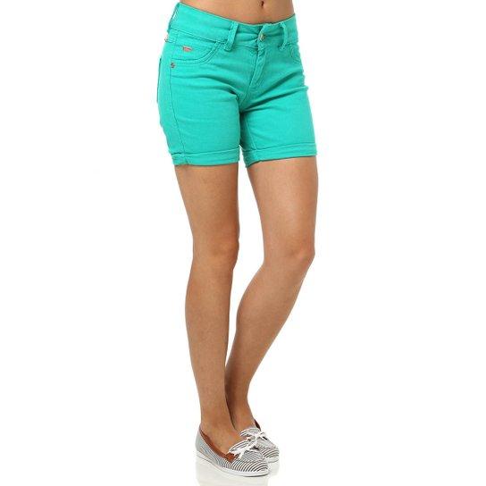 a5891e8107 Bermuda Sarja Feminina Verde - Verde