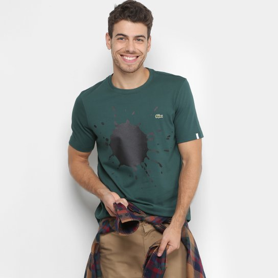 Camiseta Lacoste Live Tinta Masculina - Verde - Compre Agora   Zattini d880342439