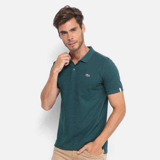 65dd42646c7b4 Camisa Polo Lacoste Live Piquet Masculina - Verde - Compre Agora ...