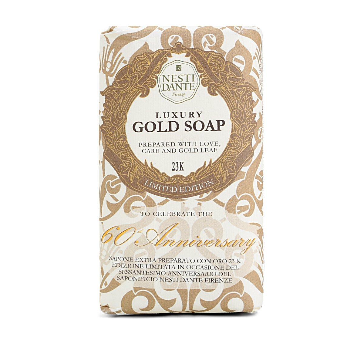 Sabonete em Barra Nesti Dante Gold Soap Com Folha de Ouro 23K 250g