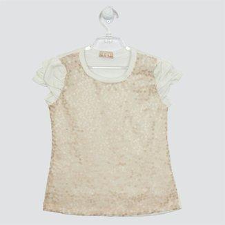 Conjunto Mariá Bebê Blusa Paetês e Short c209126e19075