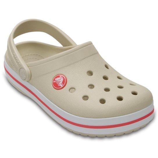 45649f1730 Sandália Crocs Crocband Infantil - Creme