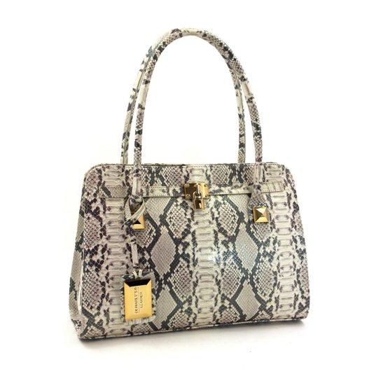 6de3c09147 Bolsa Feminina Grande em Couro Leyal Ziper Traseiro - Compre Agora ...