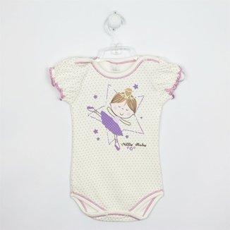 Body Bebê Manga Curta Bailarina 638acbbc9db