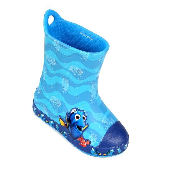 89a30c8afc Bota Galocha Infantil Crocs Bump It Procurando Dory - Azul Claro ...