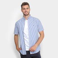 07e847bf85 Camisa Tommy Hilfiger Regular Fit Xadrez Manga Longa - Compre Agora ...