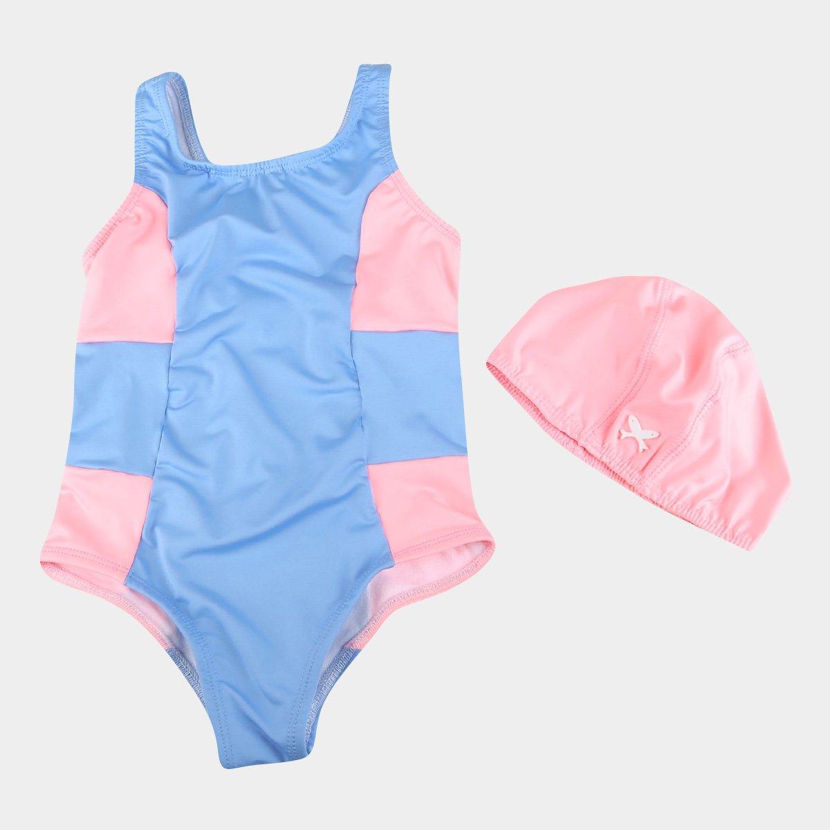Maiô Infantil Hering Proteção UV 50 + Touca