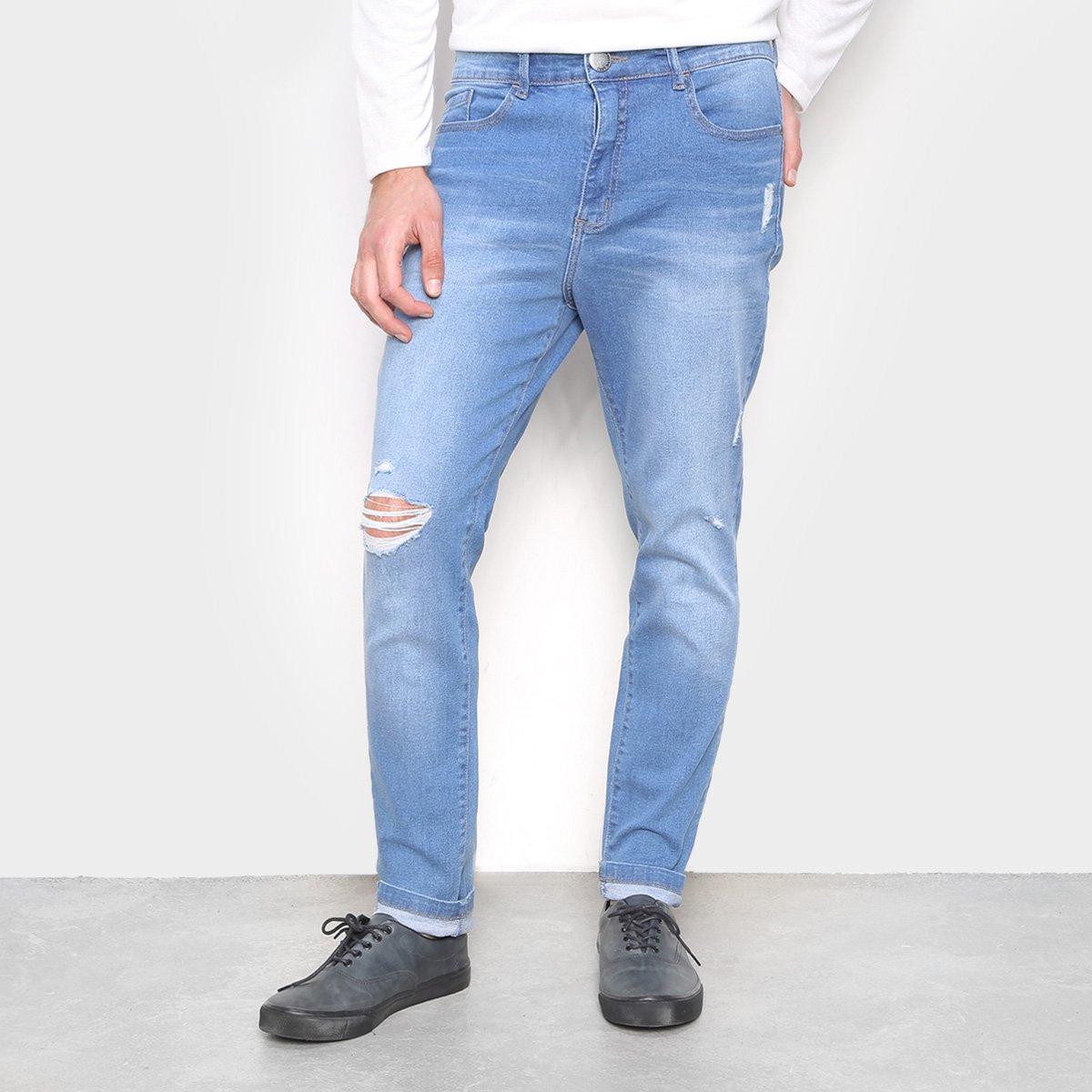 Calça Jeans Hering Taper Destroyed Masculina