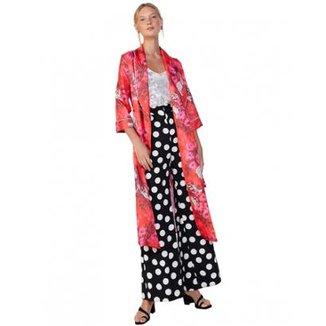 dab90045f2 Kimono Amaro Midi Feminino