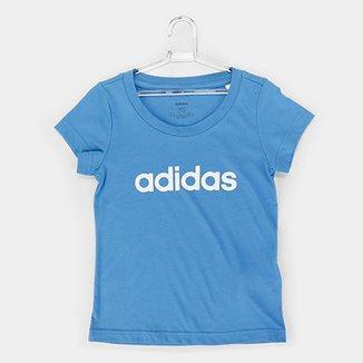 3dd6d0cc59c Camiseta Infantil Adidas Estampa Logo YG LIN TEE Feminina
