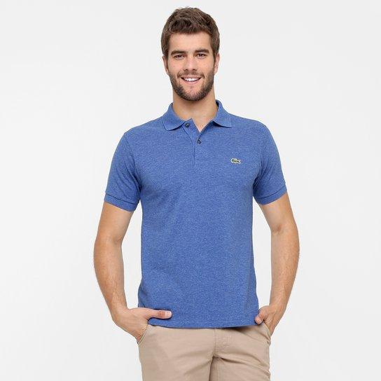 a74172c5487 Camisa Polo Lacoste Mescla Masculina - Azul Claro - Compre Agora ...
