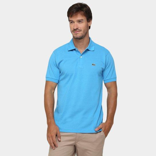 98eab9745fe Camisa Polo Lacoste Original Fit Masculina - Azul Royal e Verde ...