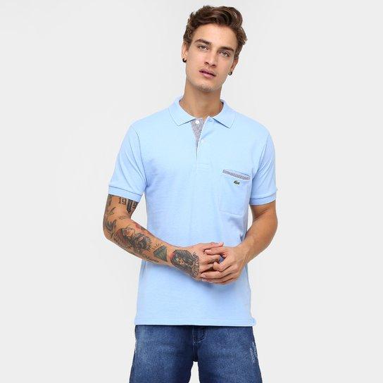 4094b1e63c8 Camisa Polo Lacoste Original Fit Bolso - Azul Claro - Compre Agora ...