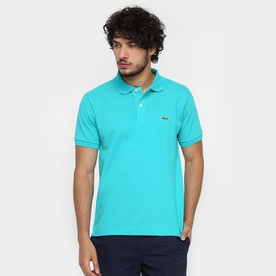 Camisa Polo Lacoste Piquet Original Fit Masculina - Azul Claro ... 2579a493343ec