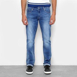 442427329f775 Calça Jeans Reta Lacoste Straight Fit Stone Masculina