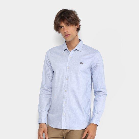 Camisa Lacoste Maquinetada Poá Slim Fit Masculina - Compre Agora ... 0b0b3fc54d