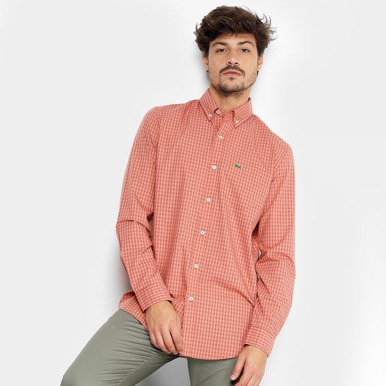 ... Camisa Xadrez Lacoste Vichy Masculina - Salmão - Compre Agora Zattini  53ee6bc168c4a3 ... b23bf18e0831b