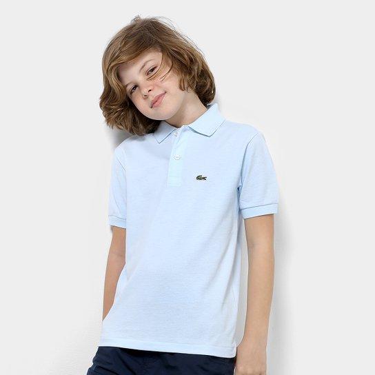 0dc08706124 Camisa Polo Infantil Lacoste Masculina - Azul Claro - Compre Agora ...