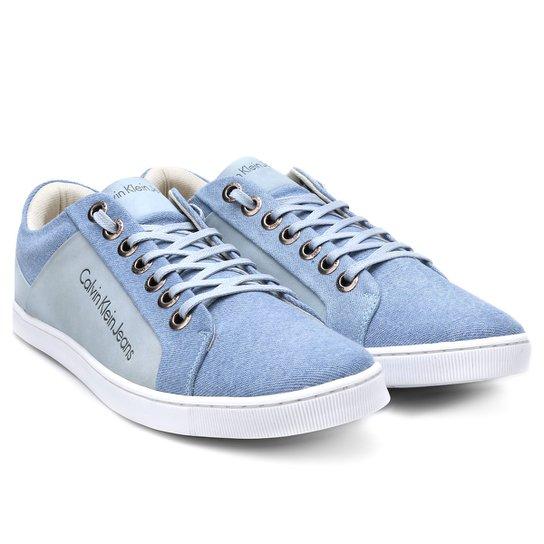 Sapatênis Calvin Klein Basic Masculino - Azul Claro - Compre Agora ... 0699a8b5cd