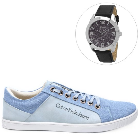 77fcd6b4a0662 Kit Sapatênis Calvin Klein Basic + Relógio Condor Masculino - Compre ...