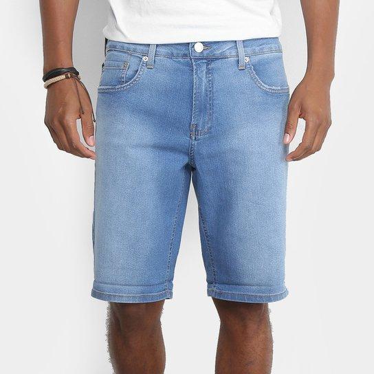 Bermuda Jeans Calvin Klein Five Pockets Masculina - Azul Claro ... 611c23464e