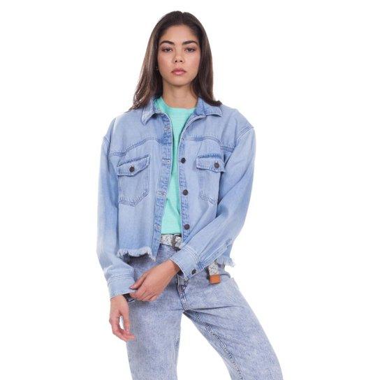 Camisa Jeans Levis Long Sleeve Addison Feminina - Azul Claro ... 35298e0998d