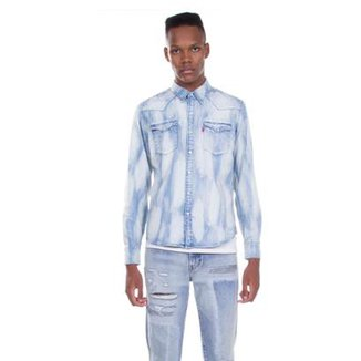 Camisa Jeans Levis Barstow Western Clara Masculina 7882515c9ce