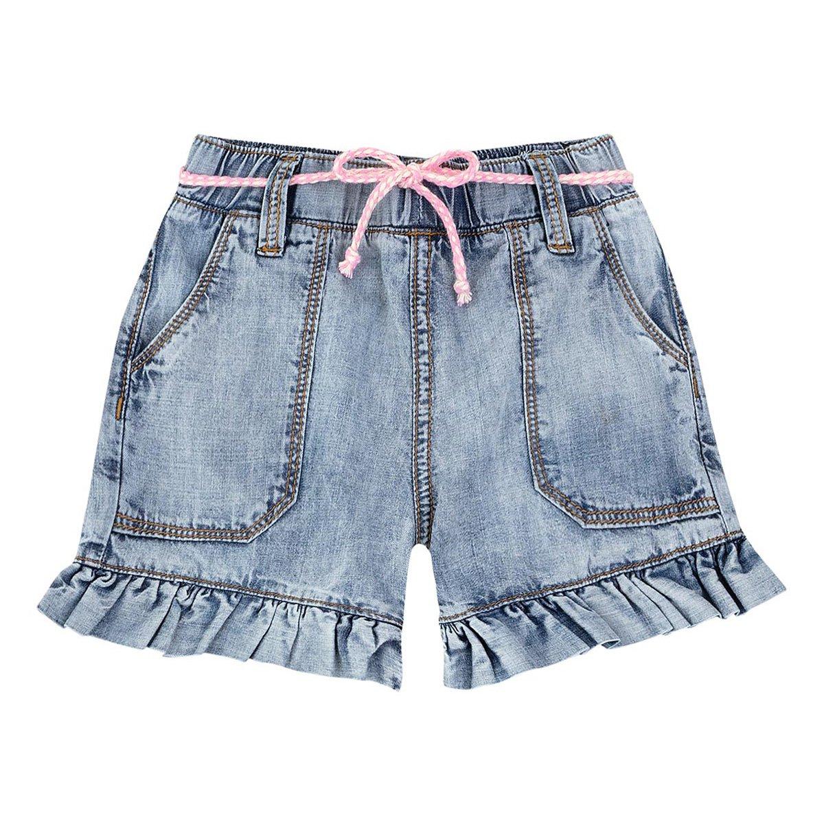 Short Jeans Bebê PUC Reto Feminino