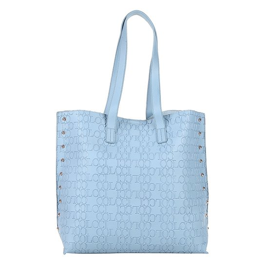 1646ab029 Bolsa Colcci Shopper Croco Tachas Feminina - Azul Claro   Zattini