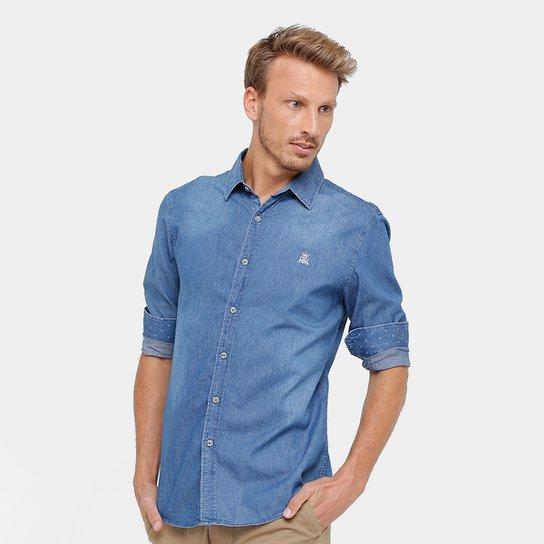 Camisa Jeans Broken Rules Regular Fit Masculina - Compre Agora  da1aca7ddea93