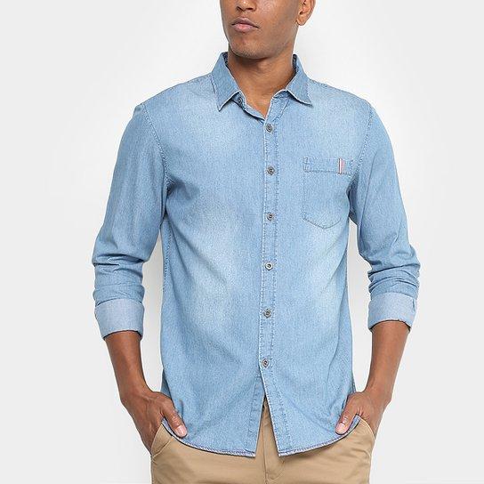 Camisa Jeans Broken Rules Bolso Masculina - Compre Agora  4d117166cbb71