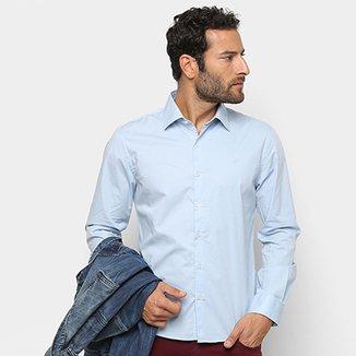 Camisa Manga Longa Ellus Tricoline Slim Masculina 791c8bf42b3