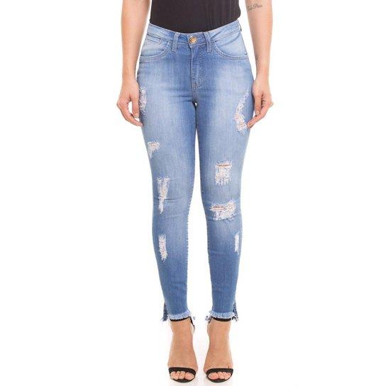 966863290 Calça Cigarrete Jeans Z-32 Mid Rise Skinny Feminina - Compre Agora ...